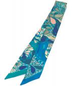 HERMES(エルメス)の古着「ツイリーシルクスカーフ」|エメラルドグリーン
