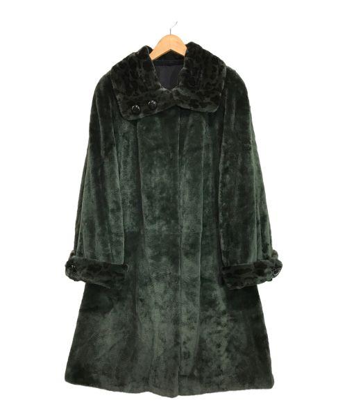 SAGA MINK(サガミンク)SAGA MINK (サガミンク) ミンクファーロングコート グリーン サイズ:Fの古着・服飾アイテム
