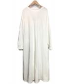 CASA FLINE(カーサフライン)の古着「バックオープンスウェットドレス」|ホワイト