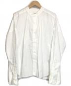 journal standard luxe(ジャーナルスタンダード ラックス)の古着「ソフト コットン gather-シャツ」|ホワイト