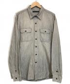 RALPH LAUREN BlackLabel(ラルフローレンブラックレーベル)の古着「ワークシャツ」|グレー
