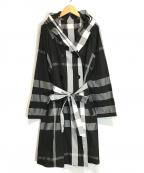 SPECCHIO(スペッチオ)の古着「ハイカウントタフタ 4WAYフーデッドコート」|ブラック×ホワイト