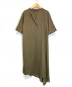 BASILE 28(バジーレ28)の古着「三角ヘムドレス」 カーキ
