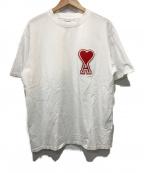 AMI Alexandre Mattiussi(アミ アレクサンドル マテュッシ)の古着「オーバーサイズハートロゴTシャツ」 ホワイト