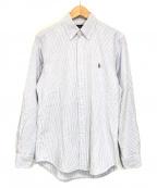 POLO RALPH LAUREN()の古着「ストライプBDシャツ」|ブルー