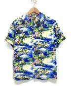 DISNEY()の古着「アロハシャツ」|ブルー