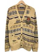 POLO RALPH LAUREN(ポロ・ラルフローレン)の古着「カレッジカーディガン」 ブラウン