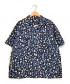 HELLY HANSEN(ヘリー ハンセン)の古着「ショートスリーブヨットプリントシャツ」|ネイビー