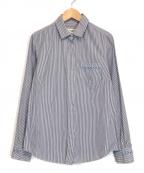WEEKEND Max Mara(ウィークエンド マックスマーラ)の古着「ストライプシャツ」|スカイブルー