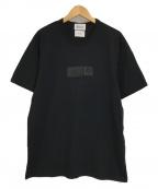 KUON(クオン)の古着「ボックスパッチ半袖Tシャツ」|ブラック