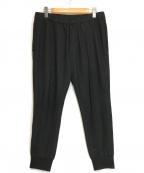 Calvin Klein(カルバンクライン)の古着「センタープレスジョガーパンツ」|ブラック