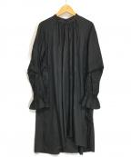 Ameri(アメリ)の古着「GATHER TUNIC BLOUSE」 ブラック