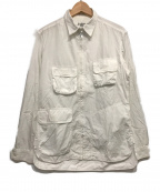 YohjiYamamoto pour homme(ヨウジヤマモトプールオム)の古着「アシンメトリージップアップミリタリーシャツ」|ホワイト