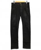 Vivienne Westwood ANGLOMANIA(ヴィヴィアンウエストウッド アングロマニア)の古着「デニムパンツ」|ブラック