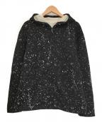 Calvin Klein(カルバンクライン)の古着「ペイントジップパーカー」|ブラック
