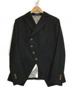 Vivienne Westwood man(ヴィヴィアン ウェストウッド マン)の古着「ヒストリカル ウール混 変形 ねじれジャケット」|ブラック