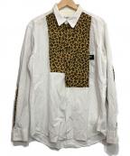 YohjiYamamoto pour homme(ヨウジヤマモトプールオム)の古着「レオパード切替シャツ」|ホワイト