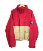 POLO SPORT(ポロスポーツ)の古着「ヴィンテージマウンテンジャケット」 レッド×ベージュ