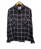 Vivienne Westwood man(ヴィヴィアン ウェストウッド マン)の古着「L/Sジップチェックシャツ」|ネイビー