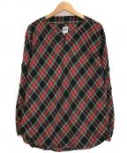 AiE(エーアイイー)の古着「プルオーバーチェックシャツ」 マルチカラー