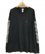 Noah(ノア)の古着「Zebra ポケット ロング スリーブ T シャツ」 ブラック