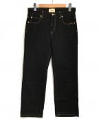 SERGE de bleu(サージ デ ブルー)の古着「デニムパンツ」|ブラック