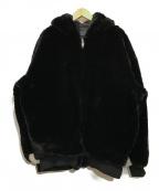 DANKE SCHON(ダンケ シェーン)の古着「Checker Fur Blouson」|ブラック