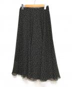 IENA LA BOUCLE(イエナ ラ ブークル)の古着「楊柳サーキュラースカート」|ブラック