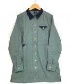 MARMOT(マーモット)の古着「ウールショップコートシャツ」|グレー