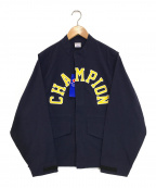 Champion(チャンピオン)の古着「ナイロンジャケット」|ネイビー