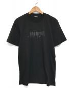 ()の古着「バーコードプリントTシャツ」 ブラック
