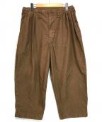 Porter Classic(ポータークラシック)の古着「POPLIN JAZZ PANTS」|ブラウン