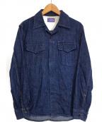 BLUE BLUE(ブルーブルー)の古着「デニムシャツジャケット」|インディゴ