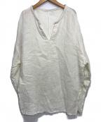 Plage(プラージュ)の古着「アサワッフルブラウス」|ホワイト