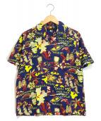 ()の古着「アロハシャツ」|ネイビー