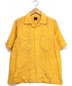 ()の古着「バタフライ柄アロハシャツ」|イエロー