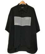 DANKE SCHON(ダンケ シェーン)の古着「オーガンジーチェーンショートスリーブシャツ」|ブラック