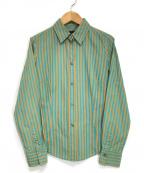 Paul Smith BLACK(ポールスミスブラック)の古着「ストライプシャツ」|グリーン