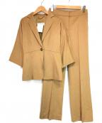 MaxMara(マックスマーラ)の古着「キャメル地セットアップ」|ベージュ