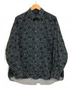 TOWN CRAFT(タウンクラフト)の古着「ボタンダウンシャツ」 グリーン×ネイビー