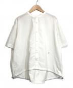 Gymphlex(ジムフレックス)の古着「バンドカラーブロードブラウス」 ホワイト