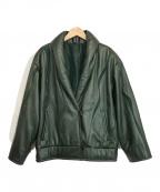 JHA-JHA GRACE()の古着「レザージャケット」|グリーン