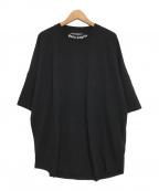 Palm Angels(パームエンジェルス)の古着「logo print T-shirt/ロゴオーバーTシャツ」|ブラック