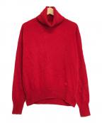 Vivienne Westwood RED LABEL()の古着「オーブ刺繍タートルネックニット」|レッド