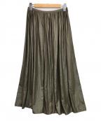 Plage(プラージュ)の古着「semi glow スカート」|カーキ
