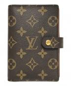 LOUIS VUITTON(ルイ ヴィトン)の古着「アジェンダPM/手帳カバー」|ブラウン