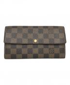 LOUIS VUITTON(ルイ ヴィトン)の古着「長財布」|ブラウン