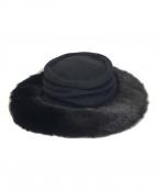 LIMI feu(リミフゥ)の古着「ハット」|ブラック
