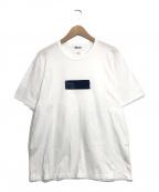 KUON(クオン)の古着「ボックスパッチTシャツ」 ホワイト