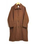 ()の古着「休日のメルトンコート」|ブラウン